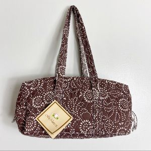 Lily Waters Quilted Dot Floral Boho Style Handbag